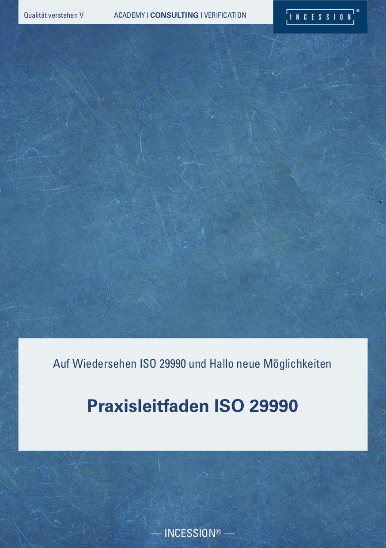 Qualität Verstehen V – Praxisleitfaden ISO 29990